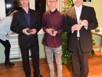 011 Juhtrajamudelistid meenetega, vasakult Margus Jõgilaine, Andy Aron ja Kaiar Tammeleht. Foto: Ene Aron