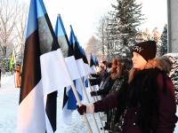 010 Eesti Vabariigi 100. juubeli hommik Sindis. Foto: Urmas Saard