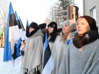 027 Eesti Vabariigi 100. juubeli hommik Sindis. Foto: Urmas Saard