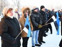 033 Eesti Vabariigi 100. juubeli hommik Sindis. Foto: Urmas Saard