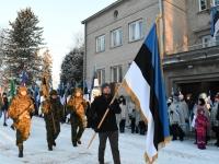 035 Eesti Vabariigi 100. juubeli hommik Sindis. Foto: Urmas Saard