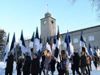 042 Eesti Vabariigi 100. juubeli hommik Sindis. Foto: Urmas Saard