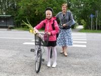 001 Esimene koolipäev teedel ja tänavatel. Foto: Urmas Saard