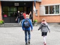 010 Esimene koolipäev teedel ja tänavatel. Foto: Urmas Saard