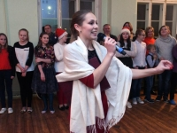 001 Jõulupidu Sindi gümnaasiumis. Foto: Urmas Saard