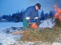008 Jõulupuude põletamine Paikusel. Foto: Urmas Saard
