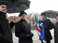 003 Läti Vabariigi 100. aastapäeva paraad Riias. Foto: Urmas Saard