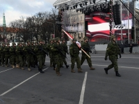 018 Läti Vabariigi 100. aastapäeva paraad Riias. Foto: Urmas Saard