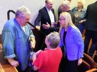 042 Linnapea kandidaadid Pärnu väärikate ees. Foto: Urmas Saard