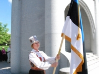 001 Lipu päeva tähistamine Rüütli platsil ja rongkäiguga. Foto: Urmas Saard