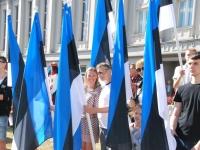 003 Lipu päeva tähistamine Rüütli platsil ja rongkäiguga. Foto: Urmas Saard