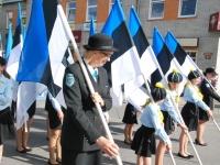 017 Lipu päeva tähistamine Rüütli platsil ja rongkäiguga. Foto: Urmas Saard