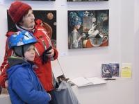 017 Made Balbati näituse avamine Sindi raamatukogus. Foto: Urmas Saard