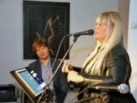 013 Methe Danefeldt kontserdiga Avangard Galeriis. Foto: Urmas Saard
