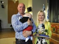 001 Pereema Helen Viitkin, pereisa Egon Eessaar ja Väike Oliver. Foto: Riina Mägi