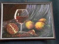 003 Olga Belash-Karasjova maalid Sindi seltsimajas. Foto: Urmas Saard