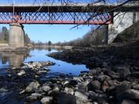 004 Pärnu jõgi Sindi silla kohal pärast paisu mahavõtmist. Foto: Urmas Saard