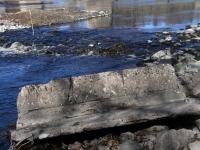 007 Pärnu jõgi Sindi silla kohal pärast paisu mahavõtmist. Foto: Urmas Saard