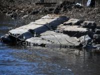 011 Pärnu jõgi Sindi silla kohal pärast paisu mahavõtmist. Foto: Urmas Saard