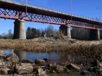 016 Pärnu jõgi Sindi silla kohal pärast paisu mahavõtmist. Foto: Urmas Saard