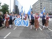 002 Pärnu linn XII noorte laulupeo rongkäigus. Foto: Urmas Saard