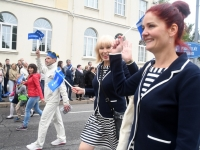 005 Pärnu linn XII noorte laulupeo rongkäigus. Foto: Urmas Saard