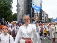 016 Pärnu linn XII noorte laulupeo rongkäigus. Foto: Urmas Saard