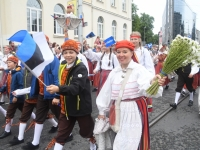 018 Pärnu linn XII noorte laulupeo rongkäigus. Foto: Urmas Saard