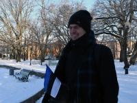002 Pärnu sümbolkujud sinimustvalgeks. Foto: Urmas Saard