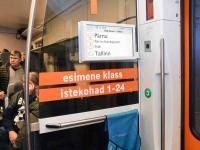 036 Pärnust Tallinna väljunud viimasel reisirongil. Foto: Urmas Saard