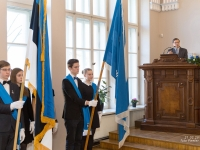 001 Piduliku lipu õnnistamine Reaalkoolis. Foto: Peeter Hütt