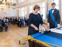 003 Piduliku lipu õnnistamine Reaalkoolis. Foto: Peeter Hütt