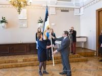 004 Piduliku lipu õnnistamine Reaalkoolis. Foto: Peeter Hütt