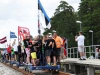004 Relsiralli 2019 lõpetamine Pärnu Papiniidu jaamas. Foto: Urmas Saard