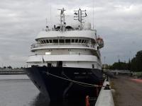 002 Ristluslaev Hebridean Sky Pärnu kesklinna kai ääres. Foto Urmas Saard