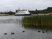 009 Ristluslaev Hebridean Sky Pärnu kesklinna kai ääres. Foto Urmas Saard