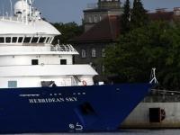 015 Ristluslaev Hebridean Sky Pärnu kesklinna kai ääres. Foto Urmas Saard