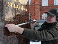 008 Seljamaa allkiri graniidil. Foto: Urmas Saard