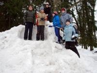 001 Sindi gümnaasiumi lumelinna päev 2011. a 3. veebruaril.  Foto: Urmas Saard