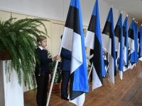 003 Sindi gümnaasiumi õpilaskonverents Eesti lipp 135. Foto: Urmas Saard