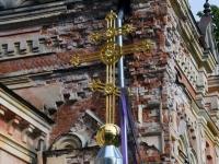 002 Sindi kiriku kellatorni kupli ja risti paigaldamine. Foto: Urmas Saard