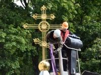 005 Sindi kiriku kellatorni kupli ja risti paigaldamine. Foto: Urmas Saard