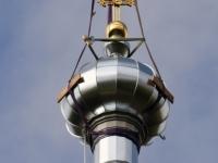037 Sindi kiriku kellatorni kupli ja risti paigaldamine. Foto: Urmas Saard