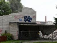 007 Sindis, Pärnu mnt 26 hoone lammutamine. Foto: Urmas Saard