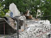 010 Sindis, Pärnu mnt 26 hoone lammutamine. Foto: Urmas Saard