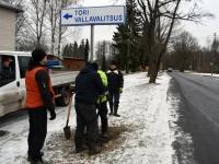 001 Teeviit juhatab Tori vallavalitsusse. Foto: Urmas Saard