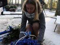 004 Vabadussõja 100. aastapäeva hommikul Sindi Vanal kalmistul. Foto: Urmas Saard