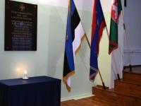 001 Vabadussõjas võidelnute mälestamine Sindi gümnaasiumis. Foto: Urmas Saard