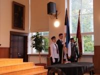 7 Vabariigi lipu õnnistamine Jakob Westholmi gümnaasiumis. Foto: Kaia Rikson