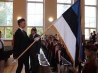 10 Vabariigi lipu õnnistamine Jakob Westholmi gümnaasiumis. Foto: Kaia Rikson